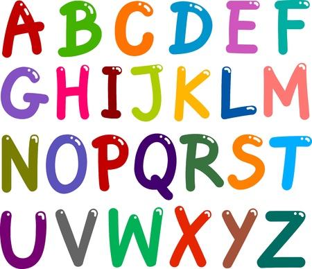 tipos de letras: ilustración de la capital colorido alfabeto Cartas para la educación