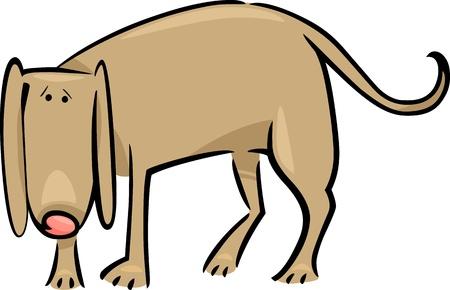 sad dog: cartoon doodle illustration of cute sad dog Illustration
