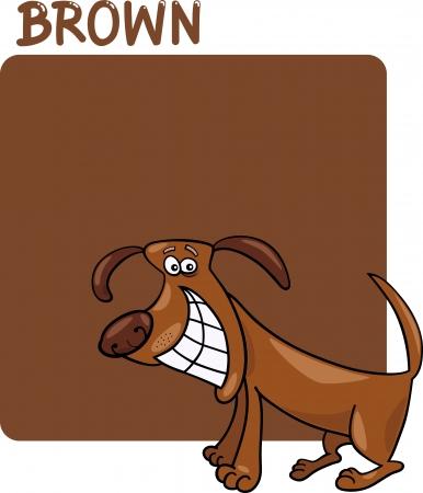 game dog: Cartoon Illustration of Color Brown and Dog