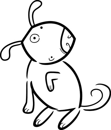 Ilustración De Dibujos Animados De Perro O Cachorro Bonito Libro ...