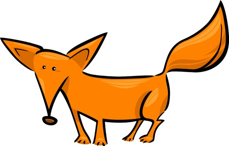 foxes: cartoon doodle illustration of cute red fox