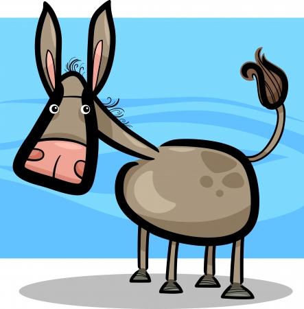 cartoon doodle illustration of cute farm donkey Stock Vector - 14501686