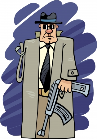 Humorous Cartoon Illustration of One Armed Bandit Expression Vector