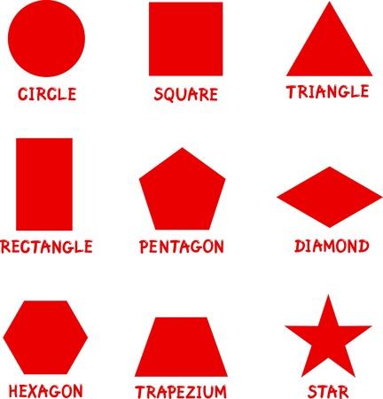 forme: Illustration des formes géométriques de base sous-titrées pour l'éducation des enfants
