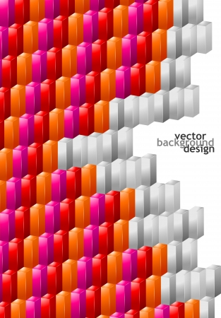 cuboid: Vector Illustration of Abstract Background Design for Poster, Cover, Layout or Decoration