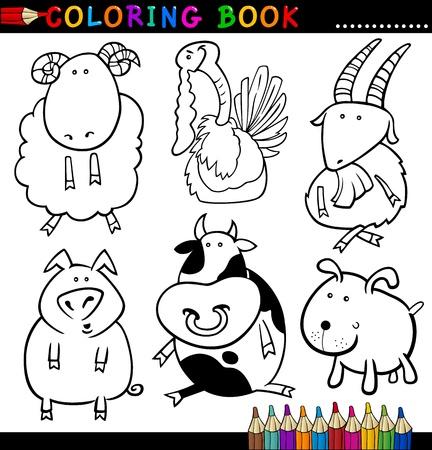 Niedlich Farm Animal Malbuch Zeitgenössisch - Ideen färben ...