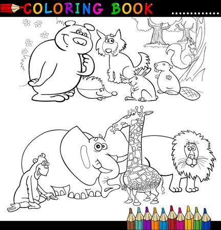 Libro Para Colorear O Ilustración De La Historieta De La Página ...