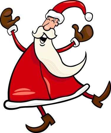 papa noel: Cartoon Illustration of Funny Christmas Santa Claus or Papa Noel Illustration