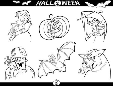 Vampiro De Dibujos Animados Miedo De Niño Comiendo Ajo Ilustraciones ...