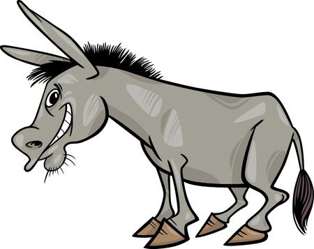 donkey tail: Ilustraci�n de dibujos animados Funny Farm Animal Burro