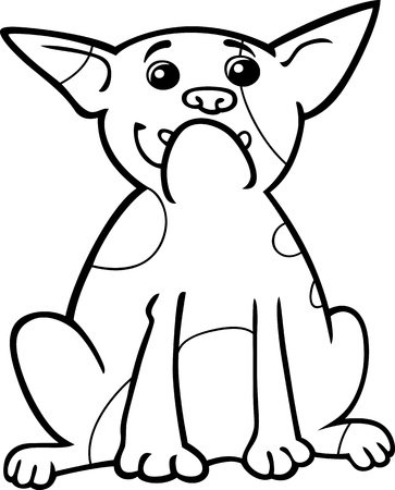sit stay: Cartoon Illustration of Funny Purebred French Bulldog Dog for Coloring Book