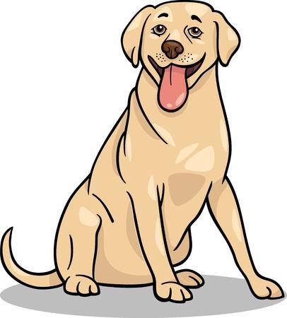 Cartoon Illustration of Funny Labrador Retriever Dog Stock Vector - 17183952