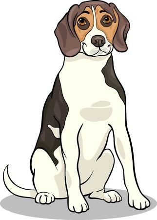 Ilustración de dibujos animados de perro Beagle lindo perrito o