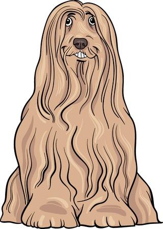 Cartoon Illustration of Cute Bearded Collie Purebred Dog Stock Vector - 17222610