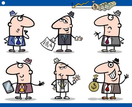 Cartoon Illustration of Funny Men or Businessmen Characters Set Stock Vector - 17560069