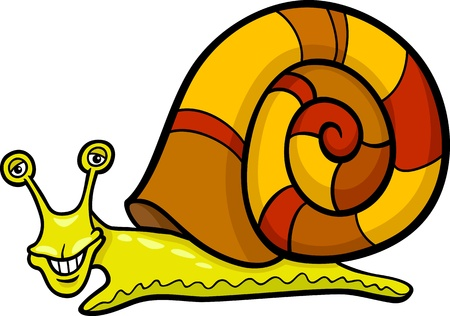 molusco: Cartoon Ilustraci�n de moluscos Caracol divertido con Shell