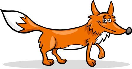 zorro: Ilustración de dibujos animados Funny Animal Wild Fox Vectores