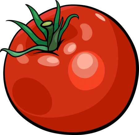 Cartoon Illustration of Tomato Vegetable Food Object