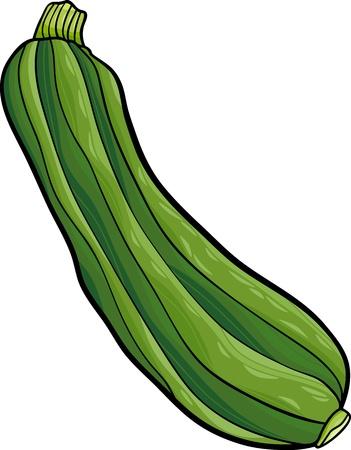 calabacin: Ilustración de dibujos animados de calabacín Verduras Objeto Alimentos Vectores
