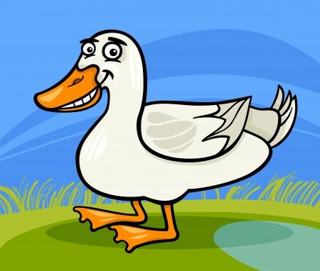 Cartoon Illustration of Funny Comic Duck Farm Bird Animal Stock Vector - 19139575