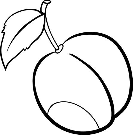 Schwarz Und Weiß Karikatur Illustration Von Pear Fruit Essen Objekt ...