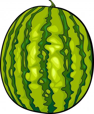 Cartoon Illustration of Watermelon Fruit Food Object Vector