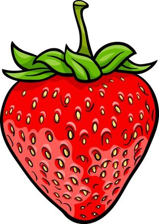 fraise: Illustration de dessin anim� de fraise Fruit objet de nourriture