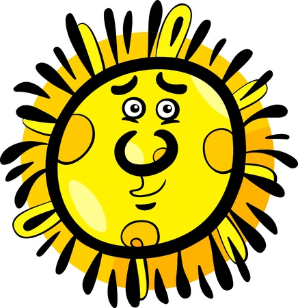 Cartoon Illustration of Funny Sun Comic Mascot Character Stock Vector - 20483531