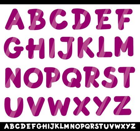 spelling book: Cartoon Illustration of Capital Letters Alphabet for Children Education Illustration