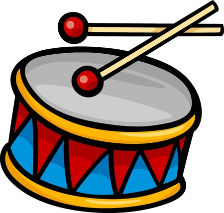Cartoon Illustration of Colorful Drum with Sticks Clip Art Stock Vector - 21435315