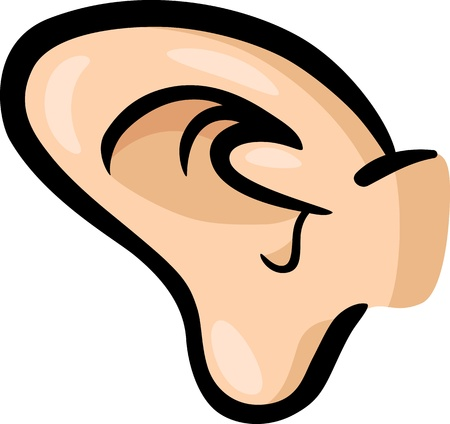 ears: Cartoon Illustration of Human Ear Clip Art