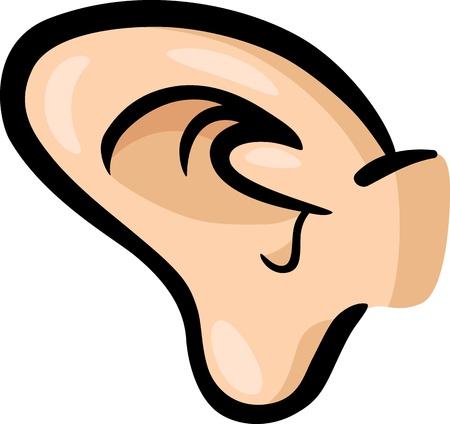 Cartoon Illustration of Human Ear Clip Art