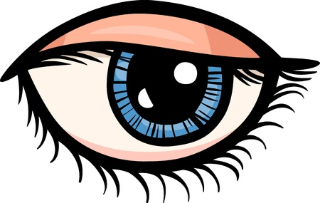 Cartoon Illustration of Human Eye Clip Art