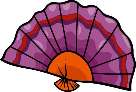 Cartoon Illustration of Flat Fan Clip Art