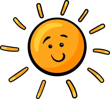 Cartoon Illustration of Cute Sun Character Clip Art Ilustrace