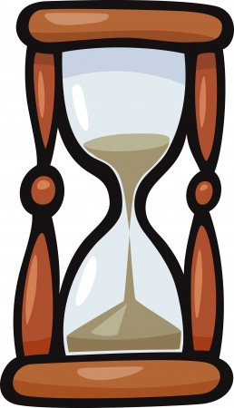 Cartoon Illustration of Hourglass or Sandglass Clip Art
