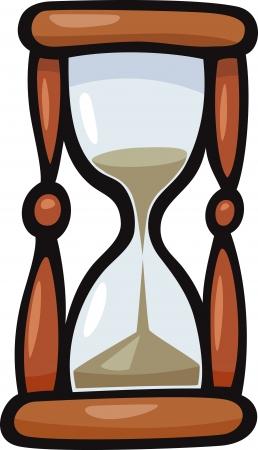 Cartoon Ilustración de reloj de arena o Reloj de Arena Clip Art