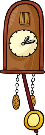cuckoo: Cartoon Illustration of Cuckoo Clock Clip Art