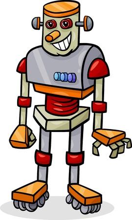 Cartoon Illustration of Cheerful Robot Stock Vector - 21822712