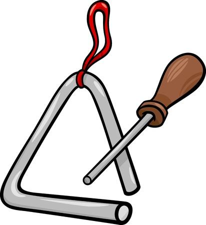 Ilustración de dibujos animados de Triángulo Percusión Instrumentos Musicales Clip Art
