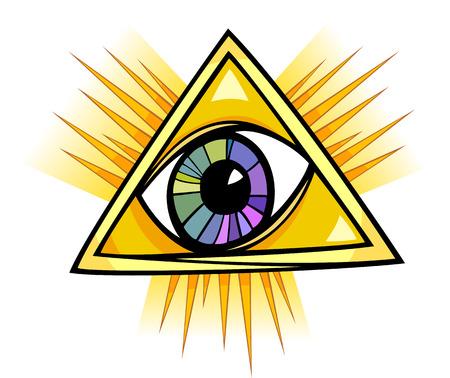 ojo de horus: Ojo de la Providencia Cartoon Ilustración Clip Art