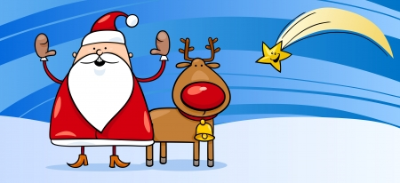 father christmas and reindeer pictures