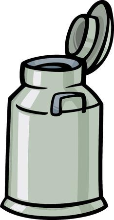 Cartoon illustrazione di latte può o Churn clipart