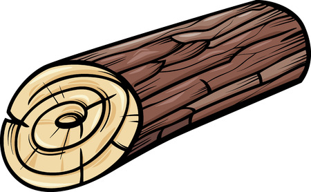 stumps: Cartoon Illustration of Wooden Log or Stump Clip Art