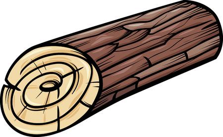 Ilustración de dibujos animados de troncos de madera o Stump Clip Art
