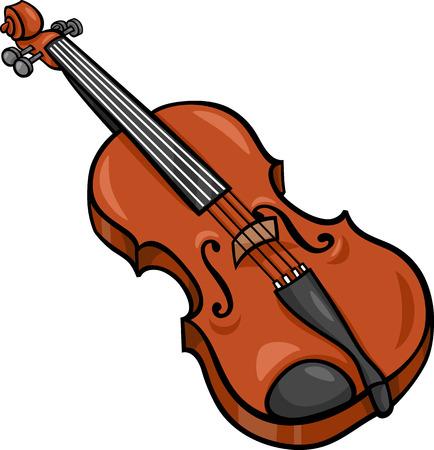 violins: Cartoon Illustration of Violin Musical Instrument Clip Art Illustration
