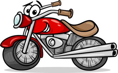 재미있는 만화 모터 자전거 차량