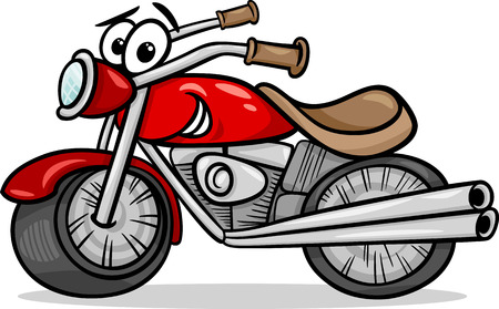 Funny cartoon Motor Bike Vehicle Vector