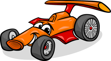 Grappig Racing Car Vehicle Stock Illustratie