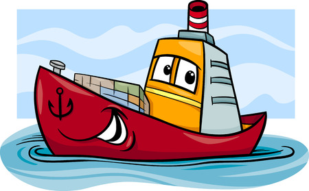 Grappig Containerschip Comic